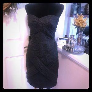 Jean Paul Gaultier  Plumeria Print Black Dress